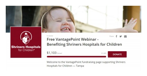 VantagePoint Launches Its First Ever Charity Webinar to Raise Money for Shriners Hospitals for Children