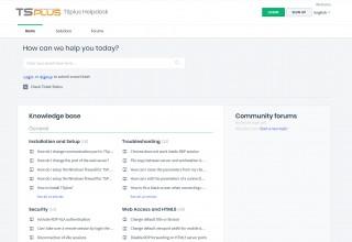 TSplus Support Desk new Interface