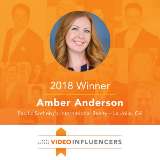 La Jolla Pacific Sotheby's Amber Anderson is Recognized as a Top Video Influencer in the Real Estate Space.