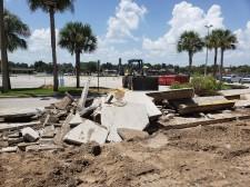 Construction at Lake Square Mall