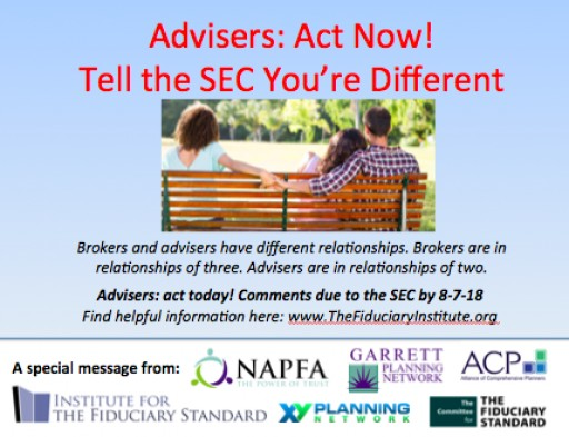 Adviser Groups to RIAs: Show Your Independence, Explain to the SEC How You're Different From Brokers