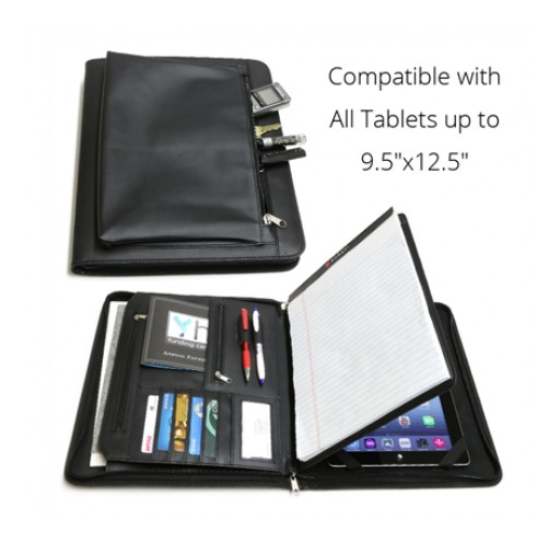 iPhone Life Magazine Reviews Sunrise Hitek's Business Leather Portfolio for iPad and Other Tablets