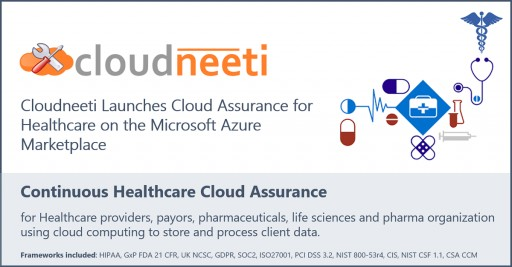 Cloudneeti Cloud Assurance for Healthcare is Now Available in the Microsoft Azure Marketplace
