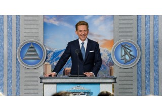Leading the dedication ceremony, Mr. David Miscavige, Chairman of the Board Religious Technology Center, welcomes Scientologists and guests from across the state on Saturday, February 17.