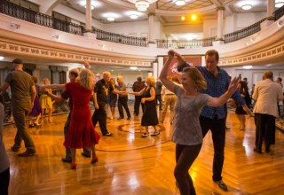 Monthly swing dance at the Church of Scientology in Clearwater raises funds for tutoring youngsters who are falling behind in school.
