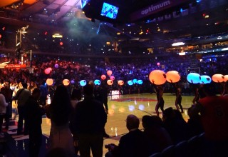 Glowballs at the New York Knicks Season Opener Madison Square Garden