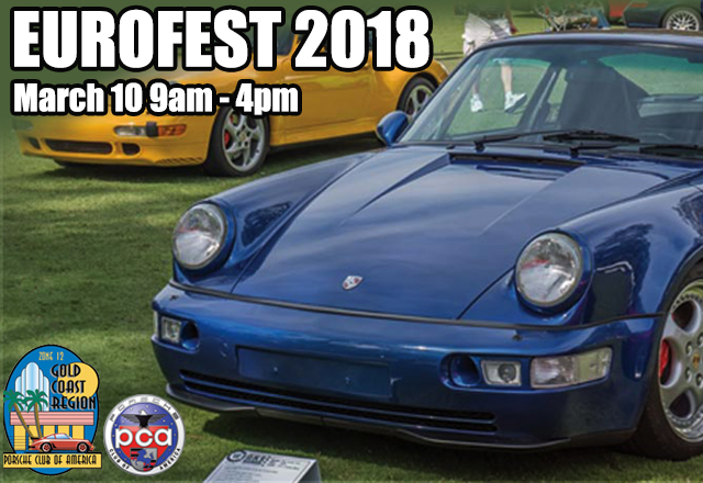Celebrate The Eurofest With Porsche Club Of America Gold Coast - Exotic car show florida 2018