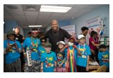 Rapper Flo Rida Visits Patients at Holtz Children's Hospital