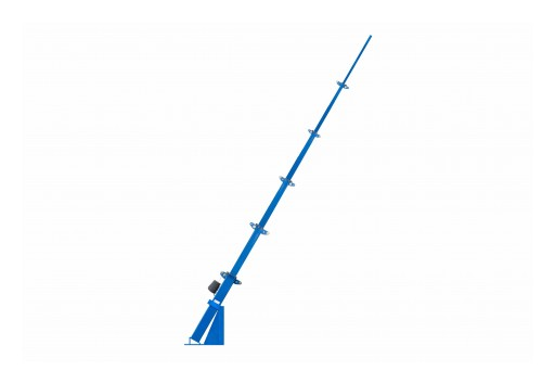 Larson Electronics Releases 26' 6-Stage Fixed Mount Angled Light Mast, 2,500lb Electric Winch