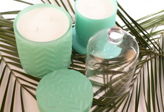 Luxury Glass Candles Sea Foam