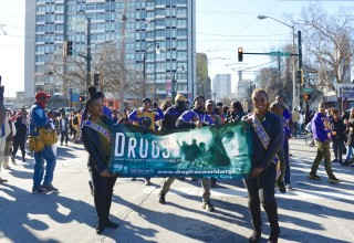 Drug-Free World marching through the streets of Atlanta