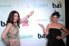 Event co-hosts Vida Ghaffari and Lousine Karibian