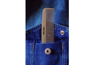 Steeltooth comb in a denim jacket