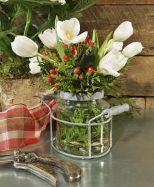 Jar Flower Holder from WaysideGardens.com