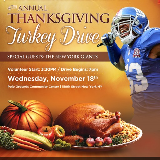 NFL's Jameel McClain (53 Families) Partner With the Rosemark Group and Whole Foods Market to Feed NYC During Thanksgiving Season