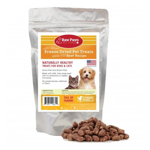 Raw Paws Pet Treats Honored on Top 50 Pet Treats List