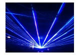 Laser beams heighten the energy at church and motivational special events