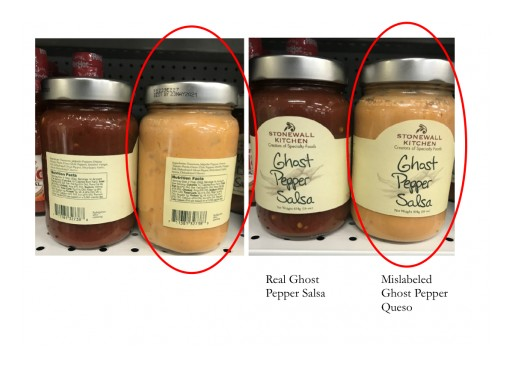 Stonewall Kitchen Voluntarily Recalls a Limited Amount of Mislabeled Ghost Pepper Queso