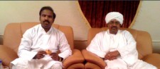 Dr. K.A. Paul of Global Peace Initiative; President Omar al-Bashir of Sudan