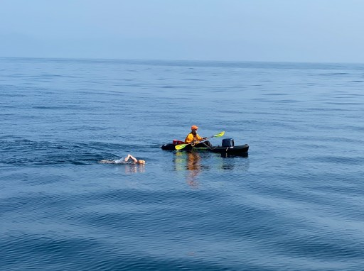 Swimmer Abby Bergman is Fourth Person to Cross Santa Monica Bay