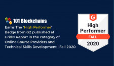 101 Blockchains Named High Performer Online Course Provider in G2 Fall 2020 Reports