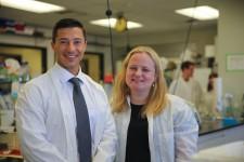 CSU Alum, Founder of Peak Serum, Tom Kutrubes and 2019 Cares for Cures Recipient, Dr. Julie Moreno