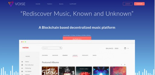 VOISE Blockchain Music Artist Platform Close to Launching Full Alpha on October 18