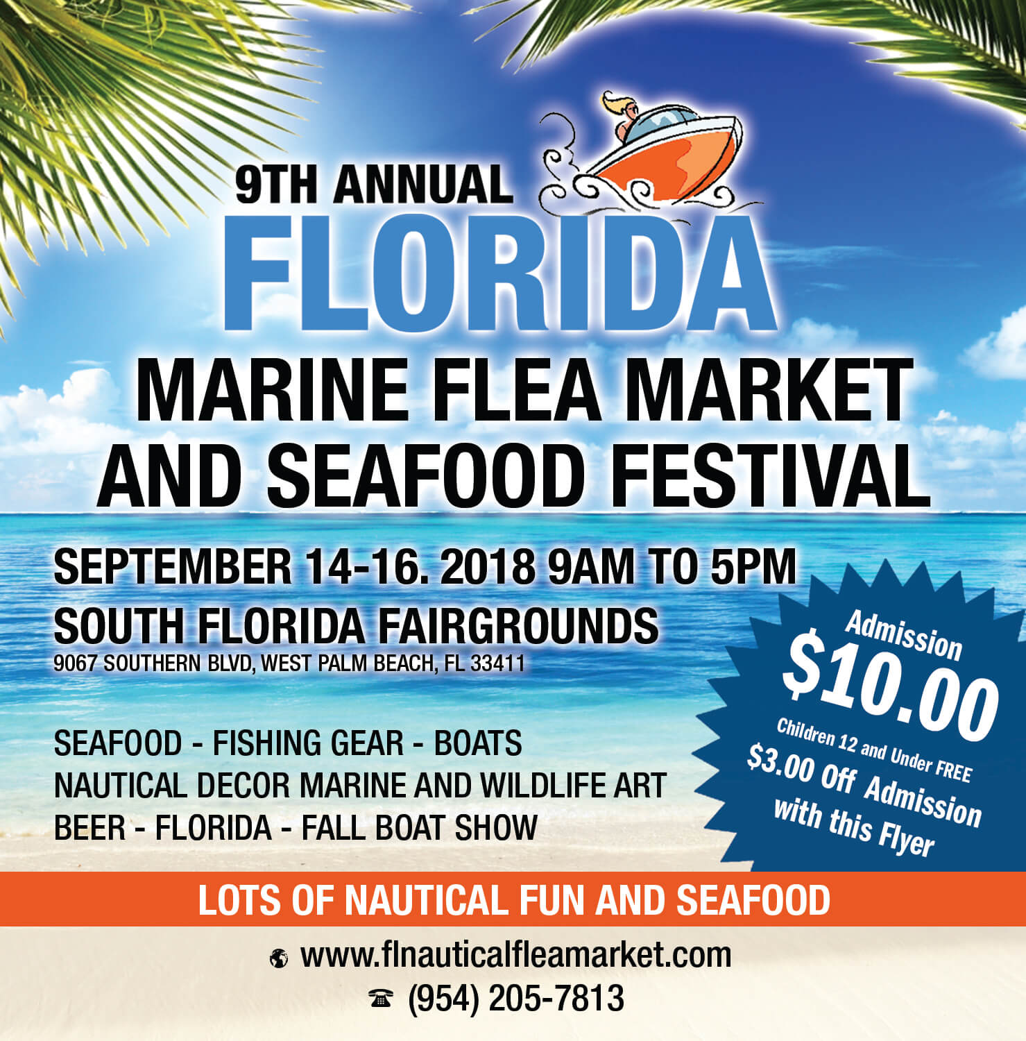 West Palm Beach Fla September 10 2018 Newswire The Florida Marine Flea Market Seafood Festival Fall Boat Show And Wildlife