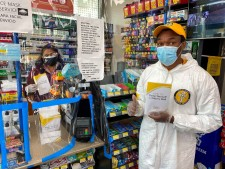 Scientology Volunteer Ministers brought copies of 'Stay Well' booklets to shops, restaurants, clinics, healthcare centers, hospitals, and houses of worship in neighborhoods around Scientology Churches in L.A.