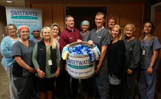 The Perfect Match: OrthoAtlanta and Southern Medical Linen Team Up to Warm Up With Sweetwater Mission Sock Donation Program