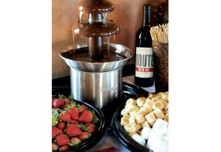 Chocolate Fountain with Fruit, Pretzels and Marshmallow for Dipping