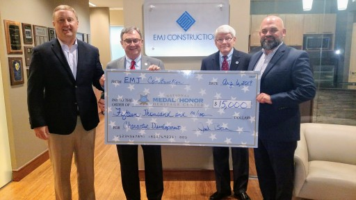 EMJ Construction Makes Donation to the Charles H. Coolidge National Medal of Honor Heritage Center