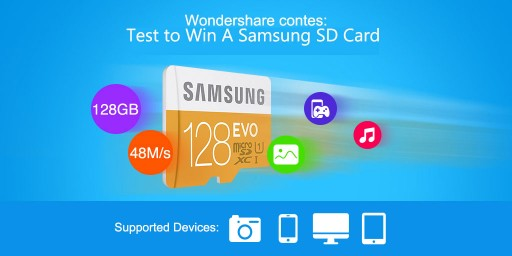 Wondershare Has Launched an SD Card Repair Contest and Will Award Winners With Samsung SD Card