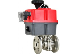 Multi Voltage Actuated Flanged Ball Valve