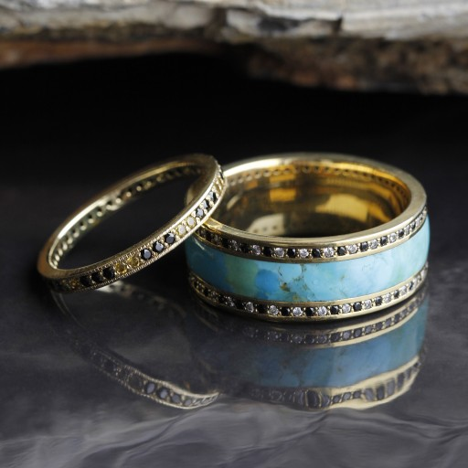 Distinctly Johan His and Hers Eternity Band Set