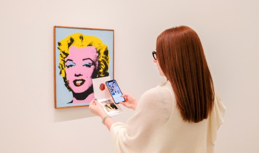 Blue Bite Powers Interactive Andy Warhol Experience at Lévy Gorvy Gallery