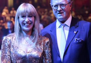 Tally Koren with Lord Balfour at the Royal Albert Hall