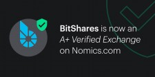 BitShares is named an 'A+ Verified Exchange' by Nomics