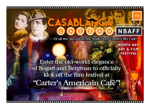 Opening Night for Carter's Biz Cafés Hosting of 2nd Annual North Bay Art & Film Festival October 6, 2017