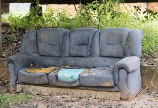 Discarded Old Couch
