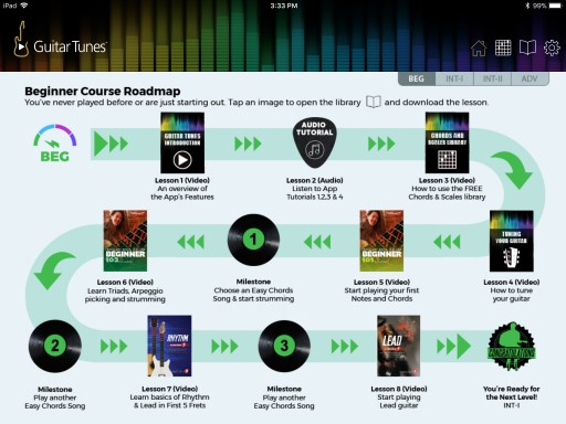 Guitar Tunes® Adds New Features and Over 50 Free Interactive Guitar Lessons