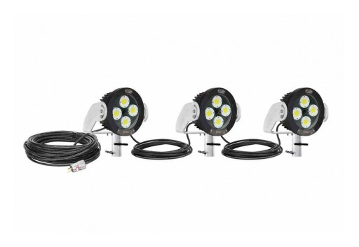Larson Electronics Releases Explosion-Proof Pole Top Mount AC LED String Light, 240W, CID1/CIID1