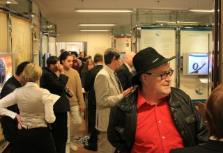 The exhibit and buffet were held in the Church's Public Information Center.