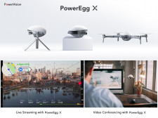 PowerEgg X is supporting live streaming and video conferencing now.