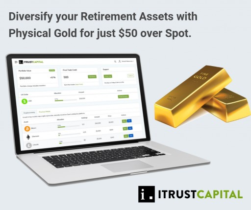 iTrustCapital Releases New Revolutionary Physical Gold Product on IRA Platform Utilizing Kitco Metals
