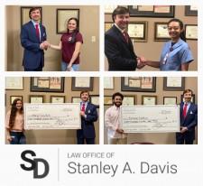 Law Office of Stanley A. Davis Pay It Forward Scholarship 2020 Winners