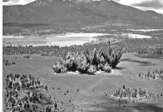 Construction of Cinder Lake Crater Field #2 east of Flagstaff