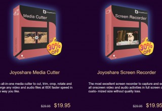 Joyoshare Media Cutter + Screen Recorder - 30 percent off