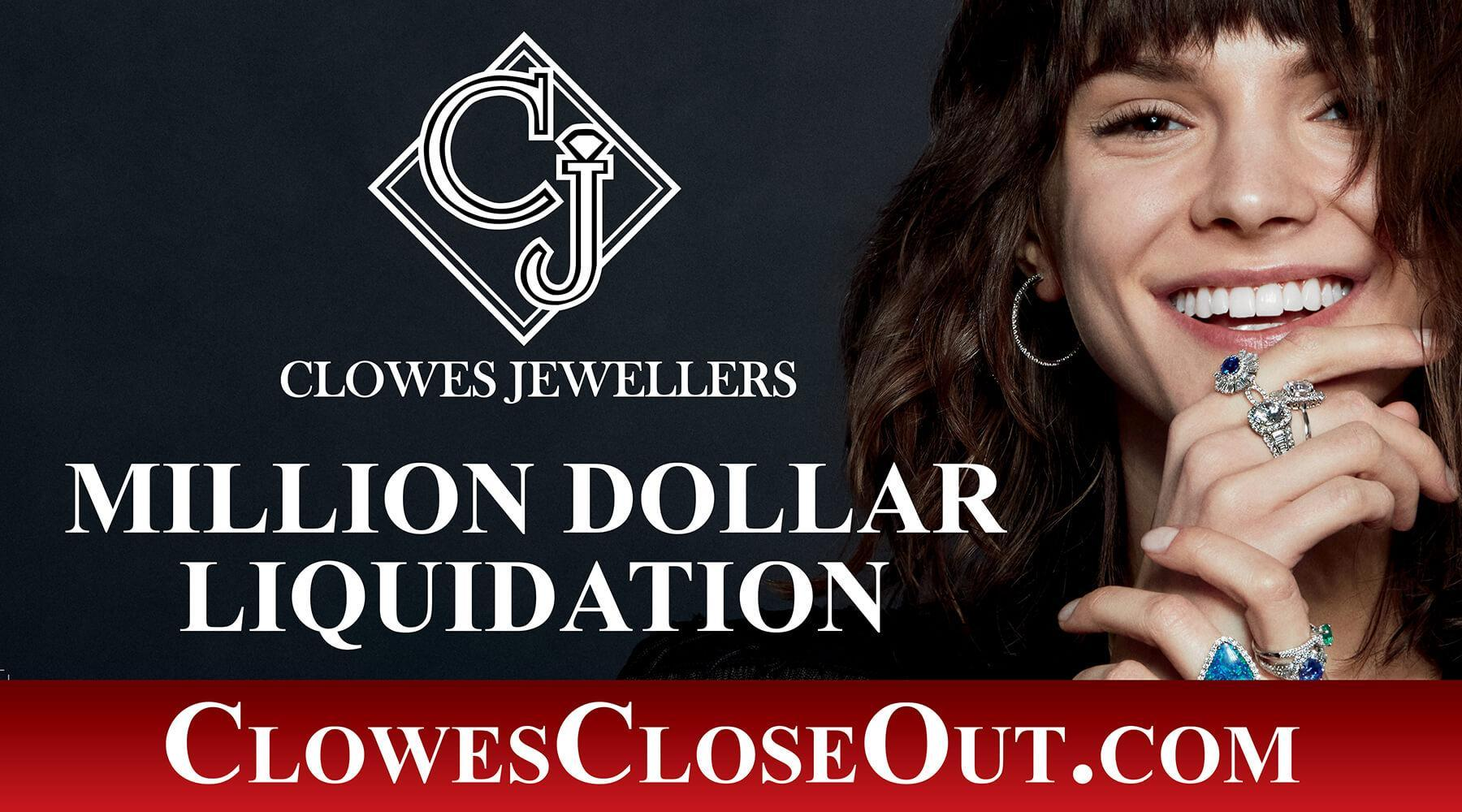 clowes jewellers closeout liquidation sale offers designer jewellery at up to 60 off newswire. Black Bedroom Furniture Sets. Home Design Ideas