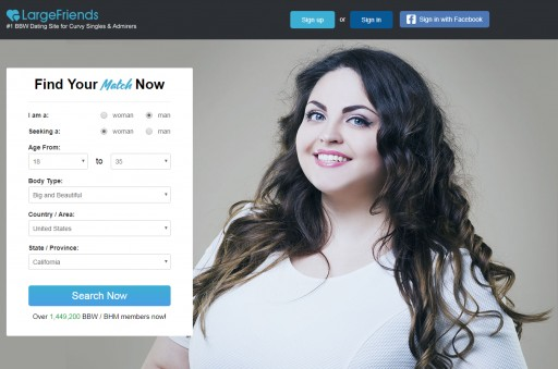 No. 1 Big Beautiful Women Dating Site LargeFriends.com Launches a New Version With a Brand-New Interface